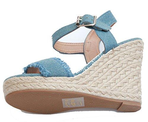 Mujer Para Only De Sandalias 15131337 Azul Vestir BwBXH1aq