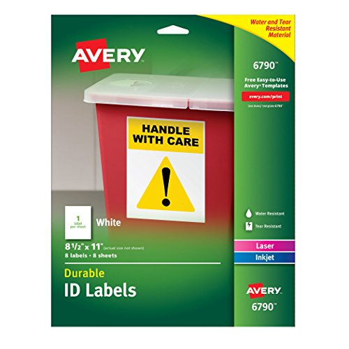 Avery Durable Labels Permanent Adhesive