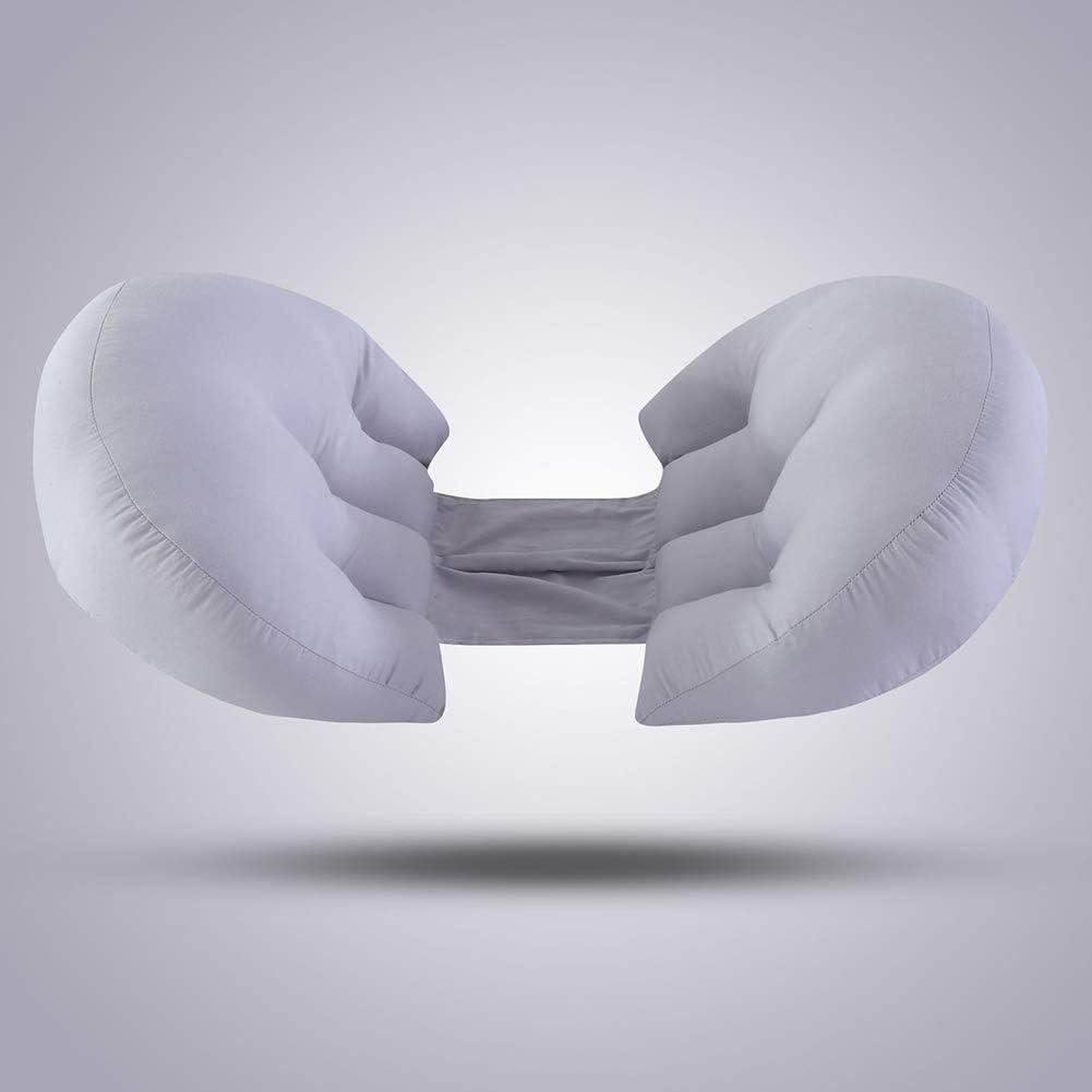 WRJ Almohada de Embarazo, cojín Lateral del Respaldo semicírculo multifunción en Forma de U con, Desmontable y diseño ergonómico Lavable,7