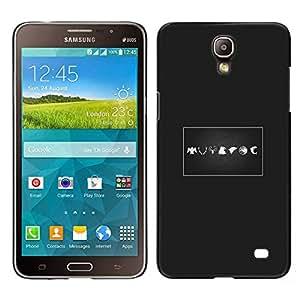 A-type Arte & diseño plástico duro Fundas Cover Cubre Hard Case Cover para Samsung Galaxy Mega 2 (Signos)