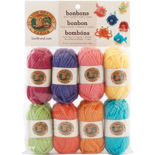 Lion Brand Yarn Company 1-Piece Bonbons, Brights, Multi-Colour by Lion Brand Yarn Company