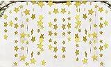 Fecedy Sparkling Star Garland Bunting for Baby shower,Wedding Party 13 feet (Gold)
