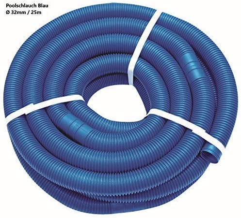 Well2wellness® Mangueras Flexibles 32mm - Blauer Manguera Piscina - 25 Metros: Amazon.es: Jardín