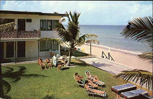 The Tiffany Apartments, 1504 South Surf Road Hollywood Beach, Florida Original Vintage - Corp Tiffany
