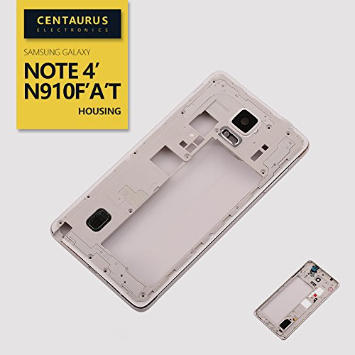 Middle Frame Housing - New for Samsung Galaxy Note 4 SM-N910F N910A N910T N910L N910S N910C N910K N910U Housing Middle Frame Cover Bezel White