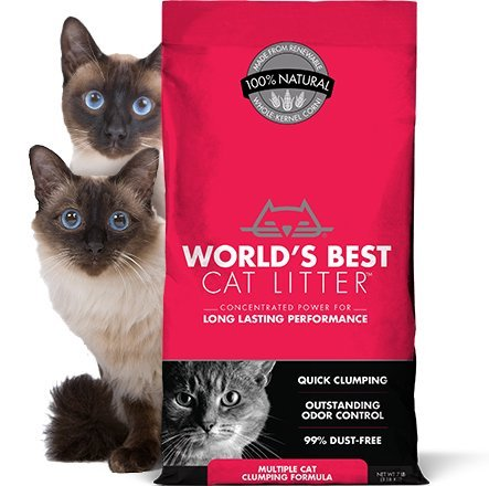World's Best Cat Litter ORIGINAL SERIES, 14 Pound Bag MULTI-CAT CLUMPING, ODOR CONTROL, PET, PEOPLE & PLANET FRIENDLY (Fast Free Delivery)