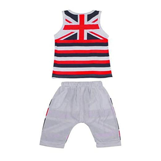 c304b9fc8cf1 MILIMIEYIK Baby Sets for Boys Kids Union Jack Outfits Vest Tops Pants Set  Clothes Valentine s Day