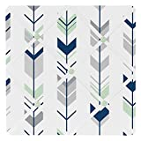 Sweet Jojo Designs Grey, Navy and Mint Woodland Arrow Fabric Memory/Memo Photo Bulletin Board
