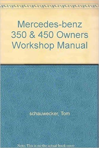 Mercedes Benz 350 /& 450 Haynes Repair Manual 1971-1980