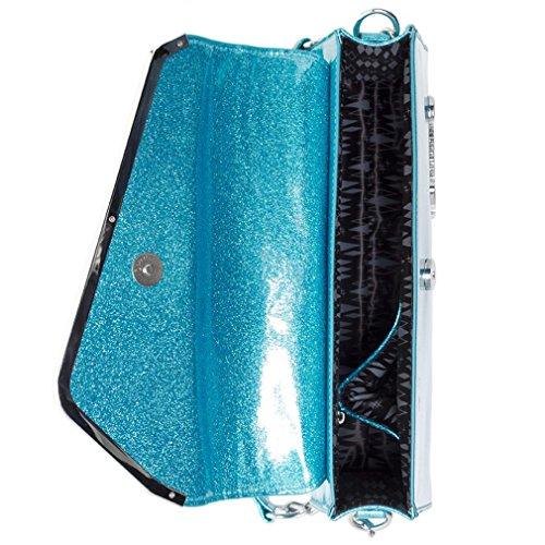 Sourpuss, Borsa a spalla donna blu Blau taglia unica