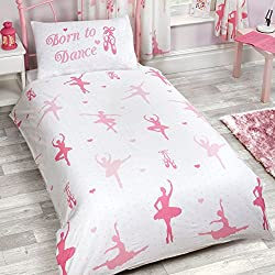 Price Right Home Born to Dance Ballerina 2 Piece UK Double/US Full Sheet Set, 1 x Double Sided Sheet 2 x Pillowcases