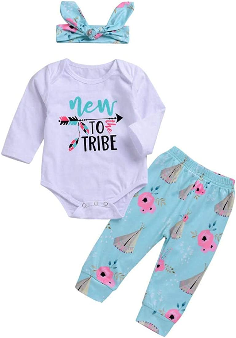 Pants Headband Clothes Sets Memela Baby Clothes,Kids Baby Long Sleeve Letter Print Tops