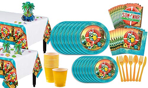 - Party City Margaritaville Party Pack for 18 Guests, 213 Pieces, Includes Tableware, Cups, and a Palm Tree Decorating Kit