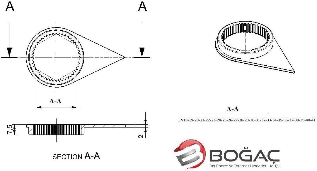 Dado per ruota libera confezione da 100 BogacWNI controllo visivo