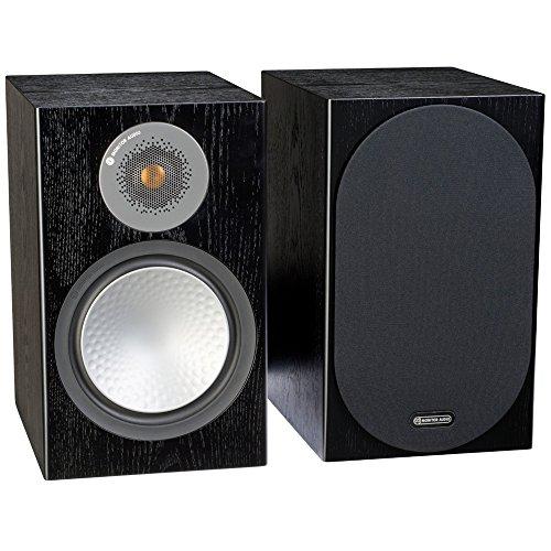 Monitor Audio Silver 100 - Par de caixas acústicas Bookshelf 2-vias para Home Theater Preto