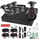 Evtevision 16 Channel 1080N DVR Kit,16 Channel 1080P Lite AHD/TVI/CVI/Analog DVR+ 4Pack 720P AHD/TVI/CVI/Analog/IP Bullet Cameras, Home Video Security CCTV System,Supports coaxial control/UTC (No HDD)