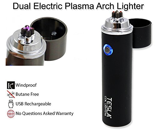 Tesla Coil Lighters™ 360° Dual Arc USB Rechargeable Windproof Electrical Plasma Arc Lighter Choose Your Color