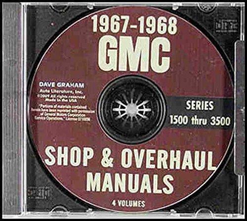 Jimmy Windshield - 1967 1968 GMC TRUCK & PICKUP REPAIR SHOP & OVERHAUL MANUAL For 1500, 2500, 3500_Bonus Cab_Suburban_Jimmy_Stakebed_Forward Control_Stepvan