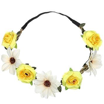 Frauen Rose Hairband Mädchen Sun Flower Headwear Braut Krone Stirnband