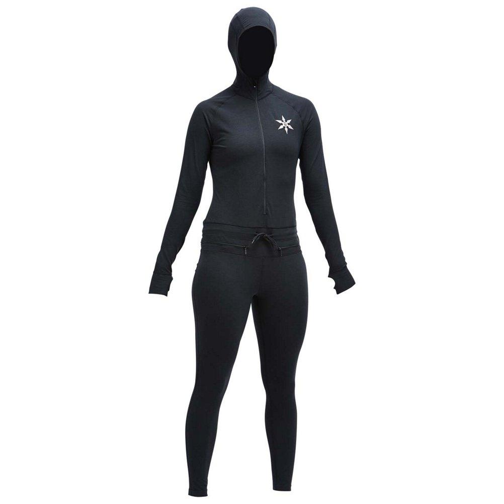 Air Blaster Classic Ninja Womens Long Underwear Top - Small/Black