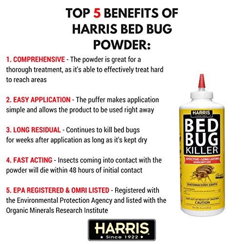 harris earth bed bug powder