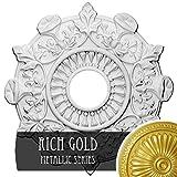 Ekena Millwork CM17PRRGS Preston Ceiling Medallion, Rich Gold