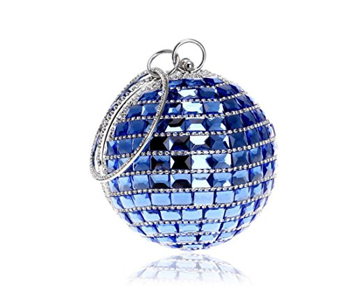 Wedding Clutch Clutch Purse Elegant Blue Evening Bridal Crossbody Small Ladies Bag Bridal Handbag Diamante Party Handbag wSPSOxCq