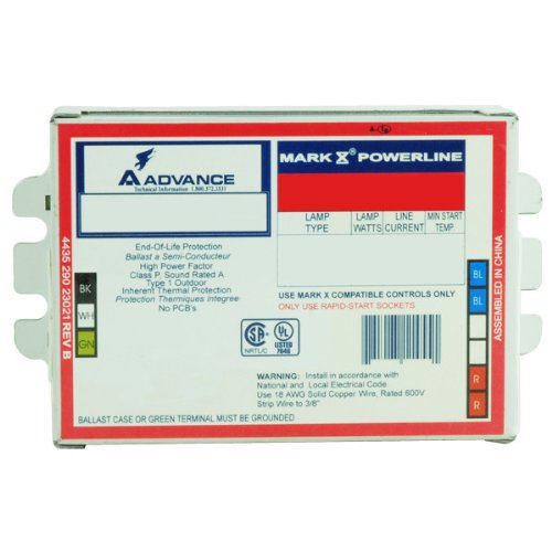 - Advance Mark 10 Powerline REZ2T42M3LD35M - 120 Volt - Dimmable - Programmed Start - Ballast Factor 1.0 - Power Factor 90% - Min. Temp. Rating 50 Deg. F - Operates (2) 42 Watt Compact Fluorescent Lamp Fluorescent Ballasts