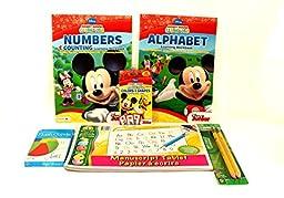 Ready for School Kindergarten Preschool Bundle Six Items: Alphabet Workbook, Numbers Workbook, Writing Tablet, 2pk Ticonderoga Beginner Pencils,Color/shape Flash Cards,Sight Words Flash Cards