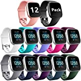 Ouwegaga Bands Compatible with Fitbit Versa/Lite/SE Water Resistant Fitness Straps for Women Men Multi Color