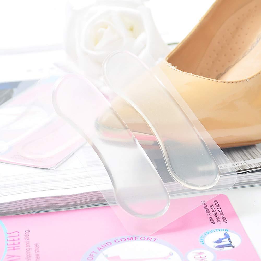 Aofocy Coussin Anti-d/érapant au Talon Anti-Usure en Silicone Clair Chaussure Souple Chaussures de Danse Hautes 2 Paires