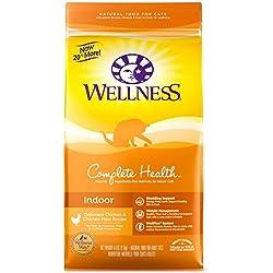 Wellness Complete Health Natural Indoor Dry Cat Food, Deboned Chicken & Chicken Meal, 6-Pound Bag