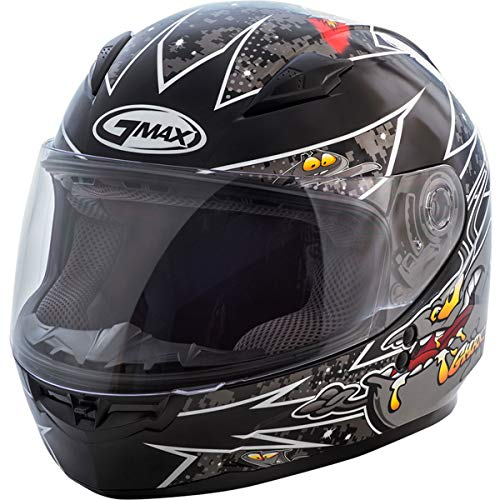 GMAX Unisex-Adult Style G7496242 TC-5 Gm49Y Full Face Street Helmet Alien Black/Silver Youth l Large
