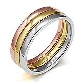 EAMTI 925 Sterling Silver Ring Wedding Bands Engagement Eternity 3pcs Rings Set (5)