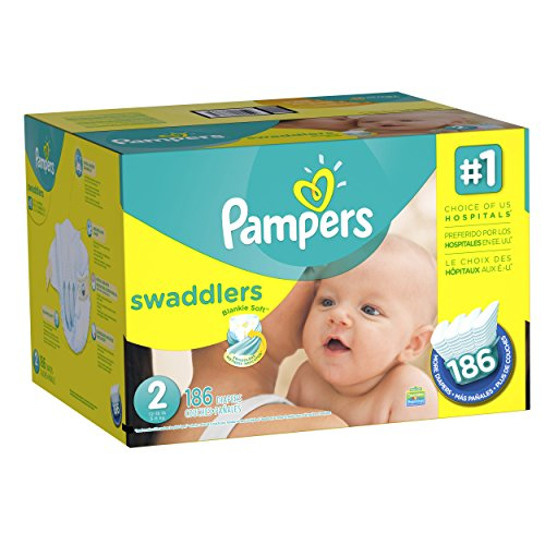 Pampers Swaddlers Diapers Size-2 Economy Pack Plus, 186-Count- Packaging May Vary