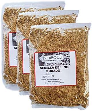 Semillas de Lino Dorado - 3kg - Rica fuente de ácidos grasos Omega 3, fibra y nutrientes