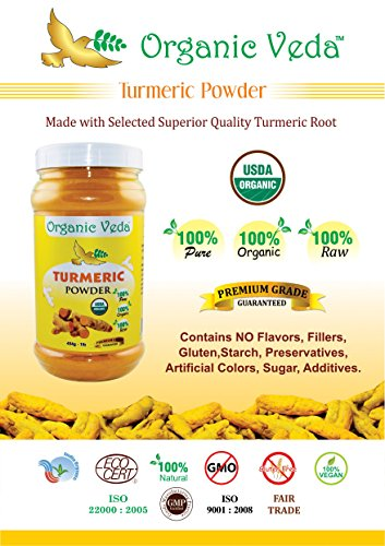 511uhkLuGXL - Organic Turmeric Powder - 7Oz. ★ USDA Certified Organic ★ 100% Pure and Raw Organic Herbal Super Food Supplement. Non GMO. Gluten FREE. US FDA Registered Facility. ALL NATURAL!