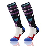 J'colour Men's Women's Knee High Over The Calf Dri Fit Cushioned Basketball Football Team Sports Socks