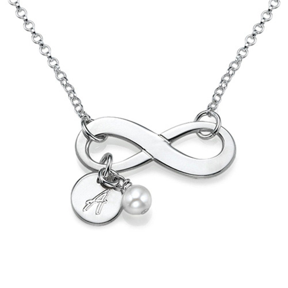 zgshnfgk Fashion Name Custom Infinity Necklace Personalized Birthstone Name Necklace Birthday Gift