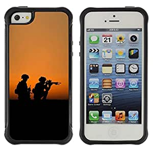 """Hypernova Defender Series TPU protection Cas Case Coque pour Apple iPhone SE / iPhone 5 / iPhone 5S [Soldaty oruzhie armiya""""]"""