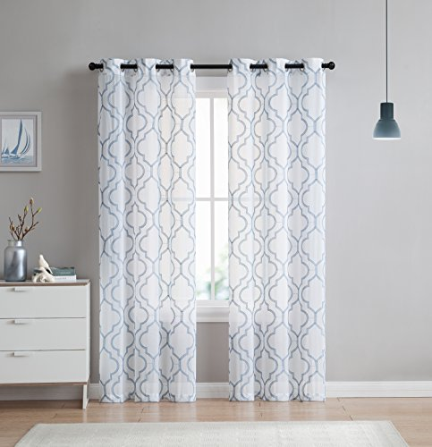 blue and white curtains - 9