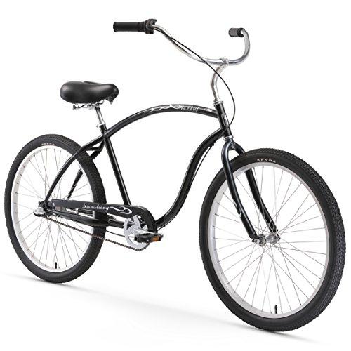 Firmstrong Chief Man Three Speed Beach Cruiser Bicycle, 26-Inch, Black