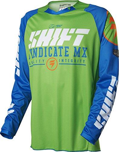 2016 Shift Strike Jersey-Blue/Green-L Blue Strike Jerseys