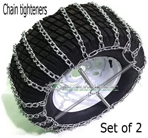 Link with Tighteners 20x10.00-10 20x10.00-8 2 Set of 2 Outdoor Power Deals OPD tire Chains