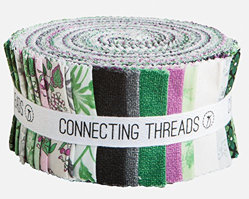 Quilt Strips Fabric (Connecting Threads Collection Precut Quilting Fabric Bundle (Botanical Blooms - 2.5