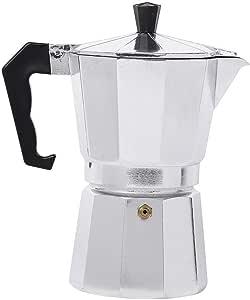 Cafetera de aluminio Olla duradera Percolator Práctica cafetera Moka 50/150/300/450 ml, 450 ml: Amazon.es: Hogar