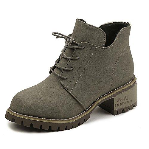 Khaki US6.5-7   EU37   UK4.5-5   CN37 Khaki US6.5-7   EU37   UK4.5-5   CN37 HSXZ Women's shoes Leatherette Winter Spring Fashion Boots Boots High Heel Peep Toe Booties Ankle Boots for Casual Khaki Black