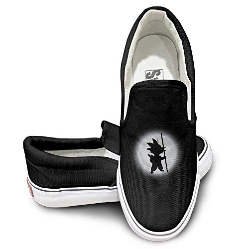 CYANY Son Goku Shadow DBZ Japanese Comic Character LOGO Design Sport Shoes Baseball Black (Goku Shoes For Sale)