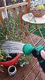 ikris Garden Hose Nozzle 10-Pattern Metal No-Squeeze Sprayer