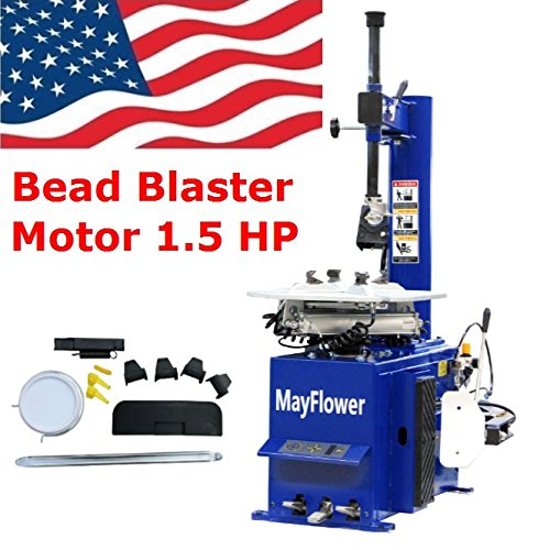 Mayflower - 1.5 Horse Power Tire Changer Wheel Changers Machine Rim clamp 950 Bead Blaster/1 Year Full (Air Rim Clamp Tire Changer)